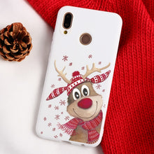 Load image into Gallery viewer, Christmas Cartoon Elk Phone Case For Huawei Mate 10 20 30 Lite P8 P9 P10 P20 P30 Lite Mini 2017 P Smart Y6 Y7 Pro 2019 TPU Cover
