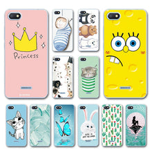 Load image into Gallery viewer, Phone Bags For Xiaomi Redmi 6A Case Cover Various Animal Cat Dark Silicone Case Coque For Xiaomi Redmi 6A Bumper Housing Redmi6a
