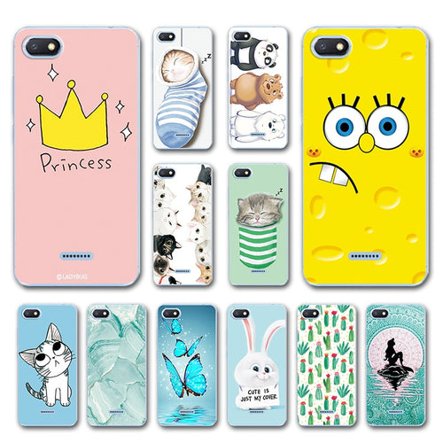 Phone Bags For Xiaomi Redmi 6A Case Cover Various Animal Cat Dark Silicone Case Coque For Xiaomi Redmi 6A Bumper Housing Redmi6a