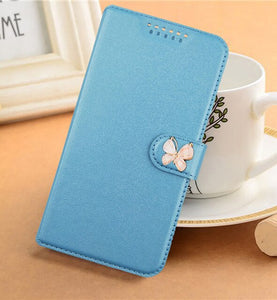 Case For LG X5 Android one xpression plus it V36 Phoenix 4 Rebel 4 v40 ThinQ Printed Flower Butterfly Special PU Leather case