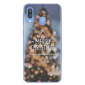 Merry Christmas Cute Santa Claus elk Phone Cover For Samsung Galaxy A6 A8 Plus A7 A9 2018 A10 A20 A30 A40 A50 A70 A80 2019 Case