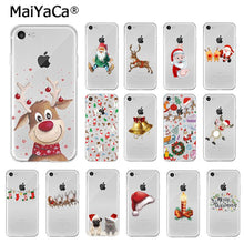 Load image into Gallery viewer, MaiYaCa Merry Christmas Santa Claus Reindeer TPU Soft Phone Case Cover for Apple iPhone 8 7 6 6S Plus X XS MAX 5 5S SE XR