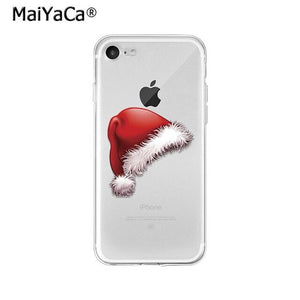 MaiYaCa Merry Christmas Santa Claus Reindeer TPU Soft Phone Case Cover for Apple iPhone 8 7 6 6S Plus X XS MAX 5 5S SE XR