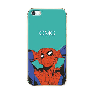 Phone Cases For Iphone 5 5S SE Soft TPU Super Charming Marvel Avengers Heroes Case Cover For Iphone 5 SE 5S Funda Novelty