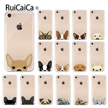 Load image into Gallery viewer, Ruicaica Cute and funny pet dog cat head Soft Shell Phone Cover for Apple iPhone 8 7 6 6S Plus X XS MAX 5 5S SE XR Cellphones
