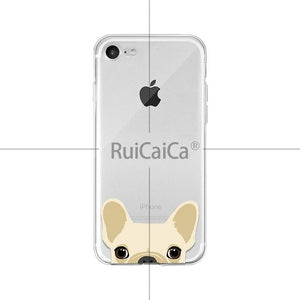 Ruicaica Cute and funny pet dog cat head Soft Shell Phone Cover for Apple iPhone 8 7 6 6S Plus X XS MAX 5 5S SE XR Cellphones