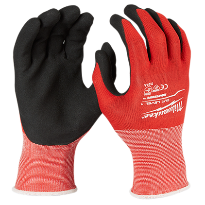 48-22-8903 Milwaukee Cut Level 1 Nitrile Dipped Gloves