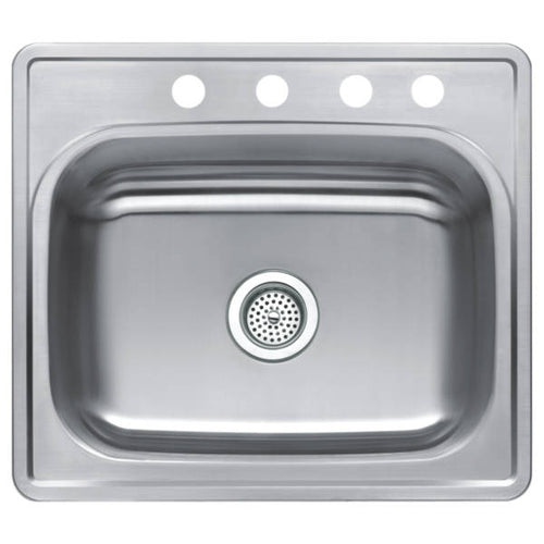 CMI Stainless Steel Single Bowl Top Mount Sink