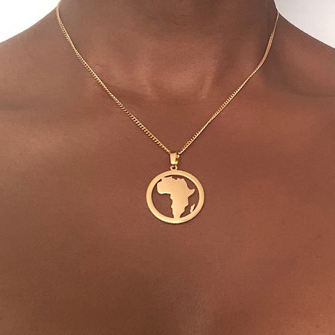 Africa Map Necklace