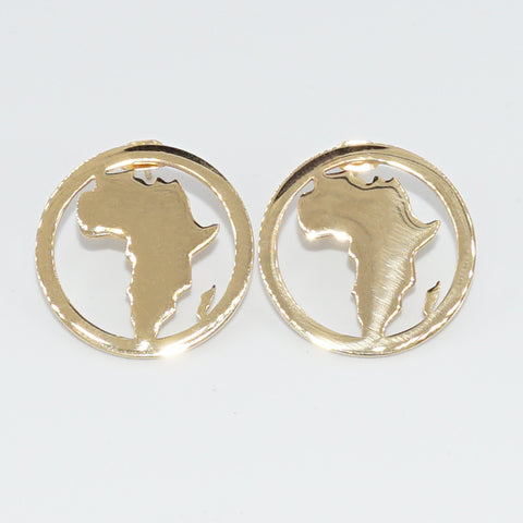 Africa Map Stud Earrings