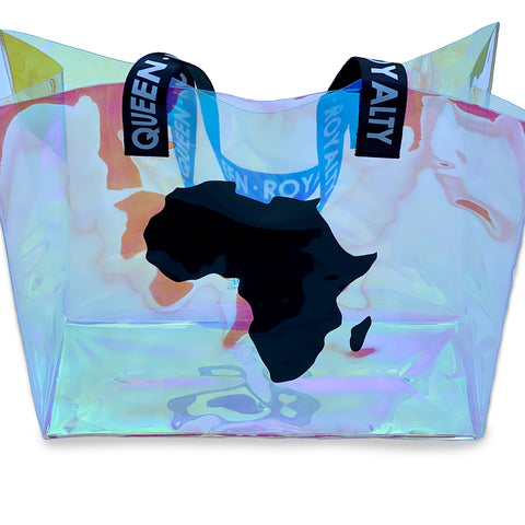 Iridescent Africa Tote Bag