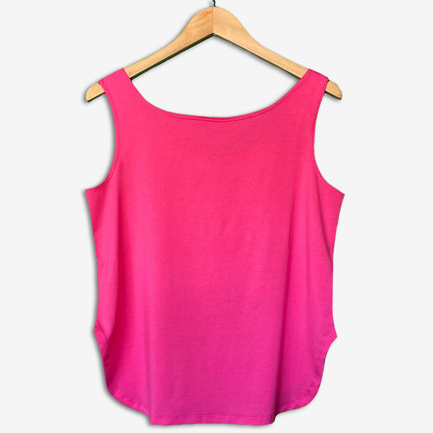 Women's Africa Flip Sequins Flared Tank Top - FUCHSIA