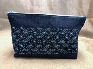 Denim Clutch Bag
