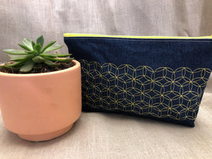 Denim Zippered Bag