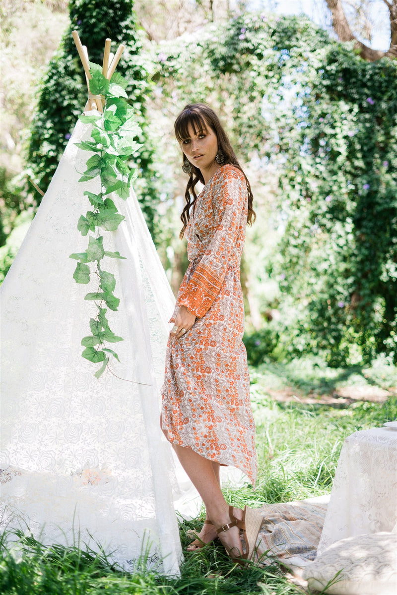 Meadow Wrap Dress-  Autumn Glory