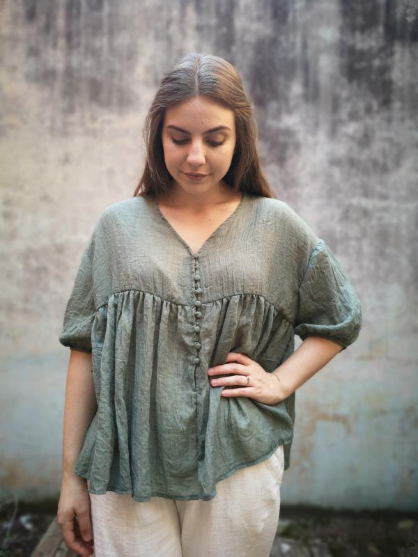 Alba Shirt Boho Bohemian Fashion Clothing Women's wear