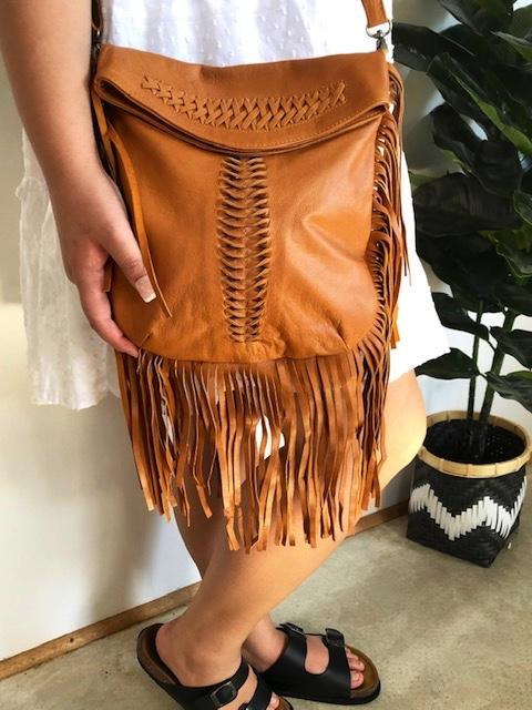 Free Spirit Tassel Bag in Caramel