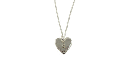 Custom Letter Heart Necklace
