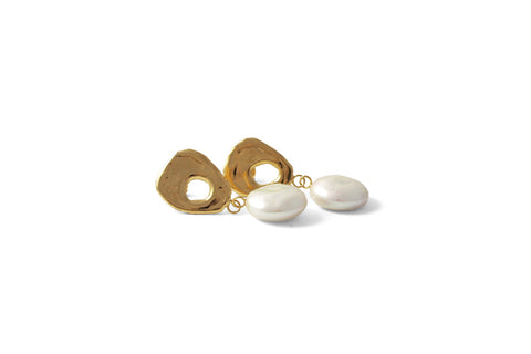 Arp Earrings Large - Gold