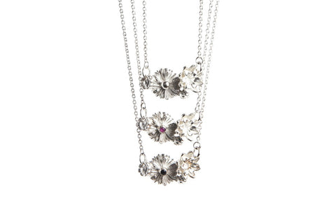 Bloom Necklace - Pink Sapphire