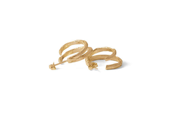 Double Squiggle Hoops - Gold