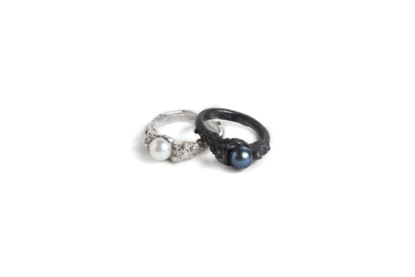 Erosion Ring - White Pearl