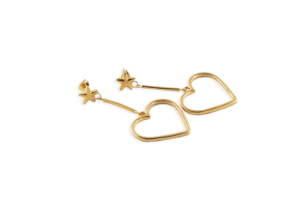 Frenchie Earrings Stars - Gold