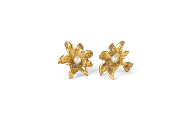 Lily Studs - Gold