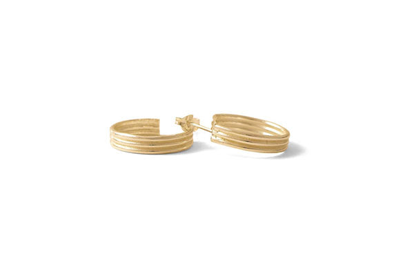 Line Hoops - Gold