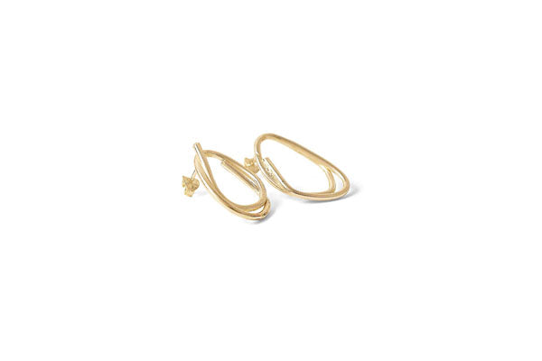 Scribble Studs - Gold