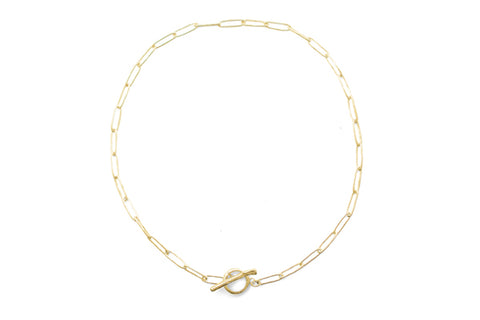 Squashed Necklace - Gold