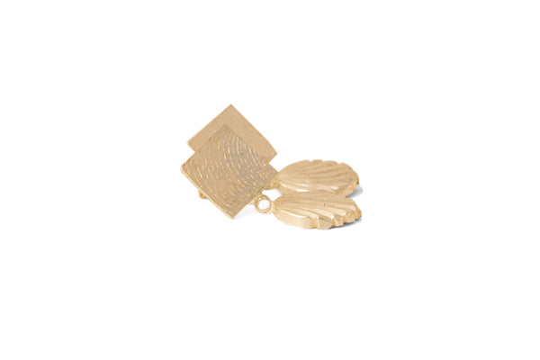 Swerve Earrings - Gold
