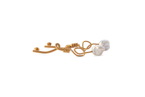 Tied Earrings - Gold
