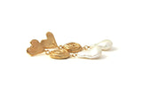 Whirlpool Pearl Earrings - Gold