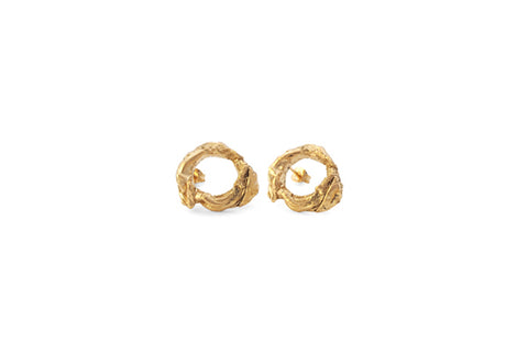 XL Tulip Studs - Gold