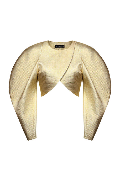 Puff Sleeve Gold Top
