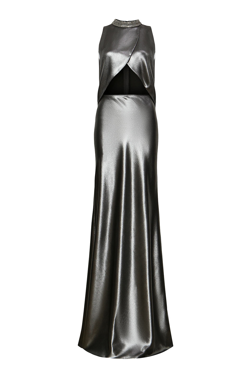Embellished Silver Key Hole Gown