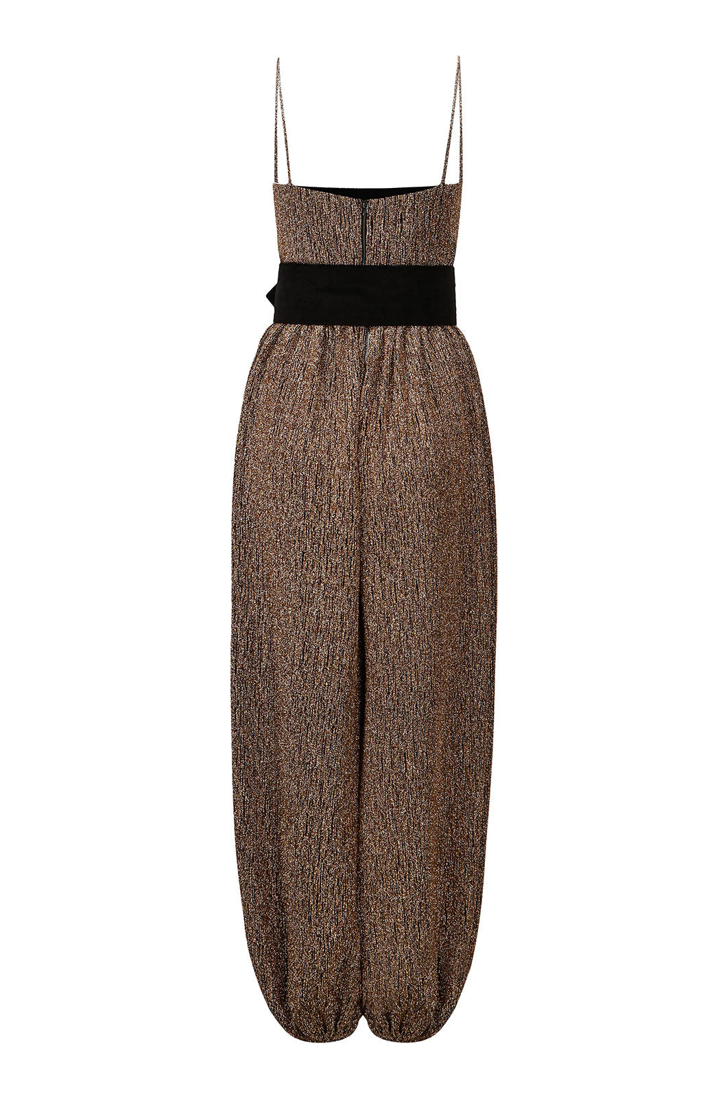 Bronze Shimmer Jumpsuit With Belt