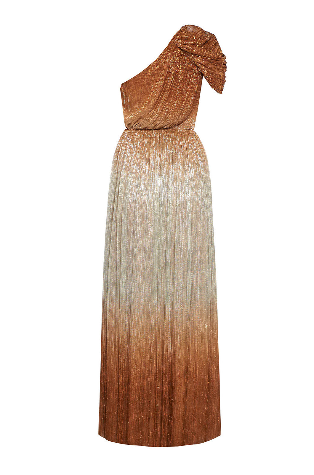 Gradient one shoulder maxi dress