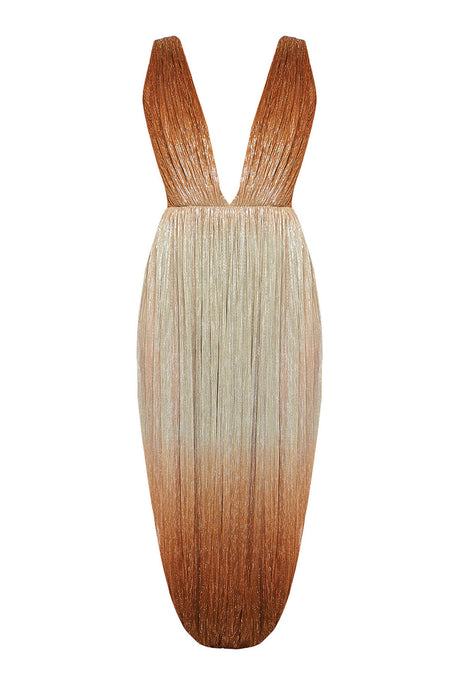 Gradient dress with leg cut-outs