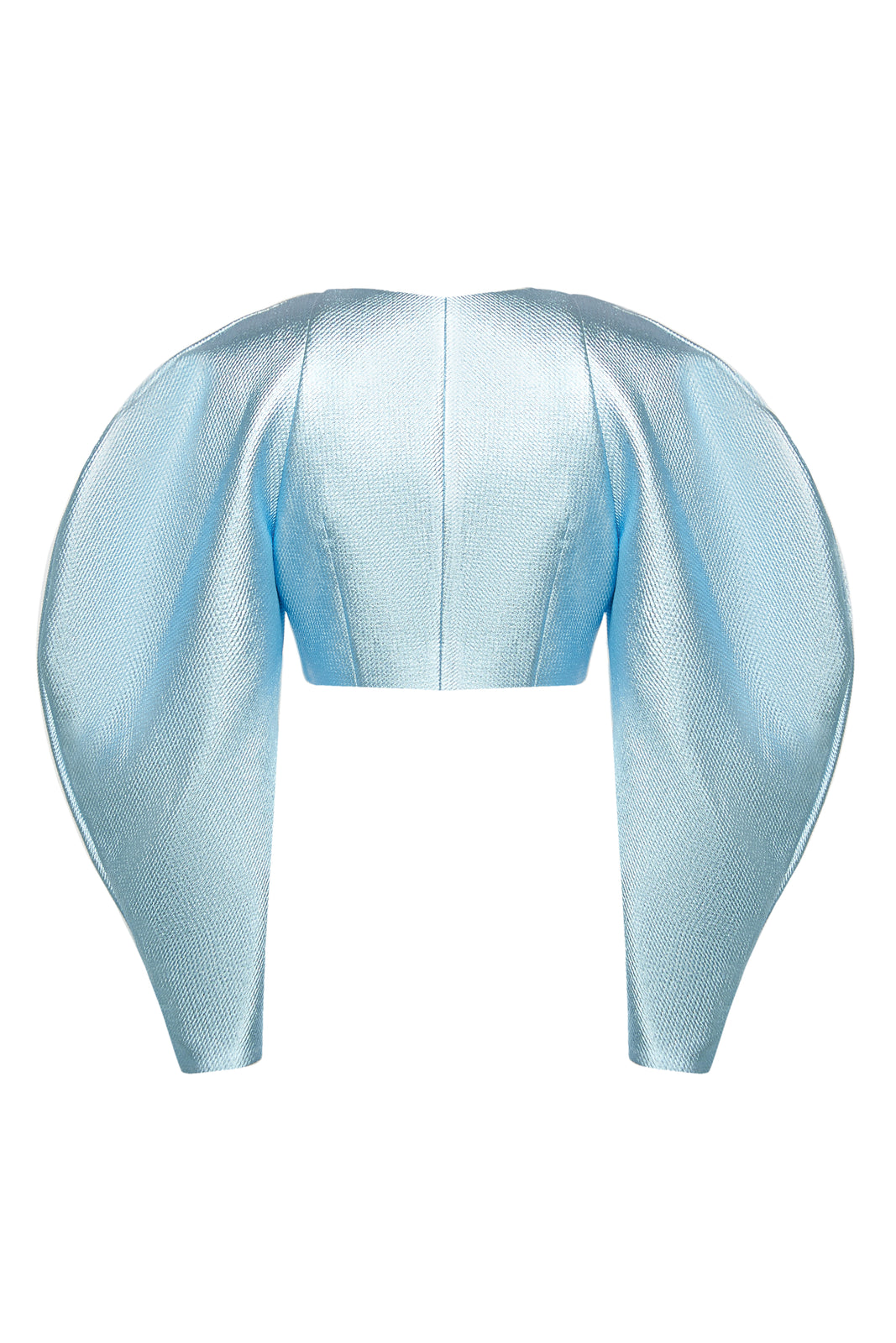 Sky Blue Puff Sleeve Jacket