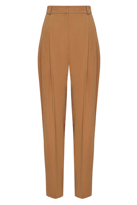 High Waist Camel Trousers