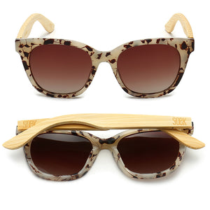 LILA GRACE IVORY TORTOISE - With Brown Graduated Tinted Polarized Lens and Bamboo Arms- Adult