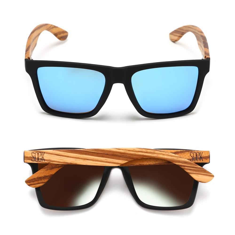 FORRESTERS - Sustainable Walnut Sunglasses with Blue Polarized Lens - Adult