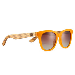 LILA GRACE BURNT ORANGE - With Brown Gradual Polarized Lens and Walnut Arms