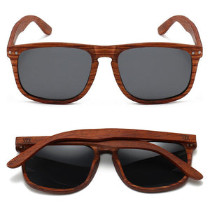 NOMAD- Ebony Wooden Frame with Black Polarized Lens  - Adult
