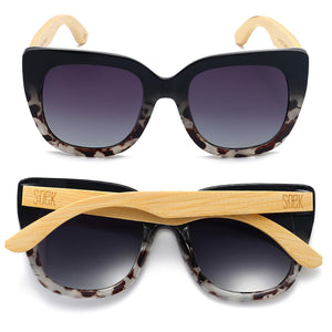 RIVIERA BLACK/IVORY TORTOISE - Black Graduated Lens with Bamboo Arms