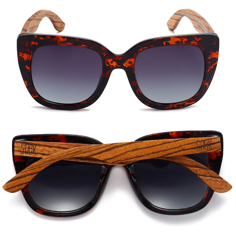 RIVIERA TORTOISE - Brown Graduated Lens with Walnut Arms