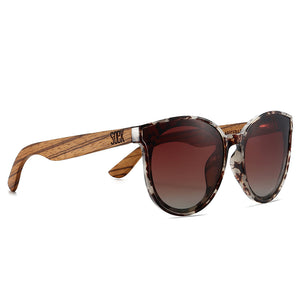 BELLA IVORY TORTOISE -  Brown Polarised Graduated Lens with Walnut Arms
