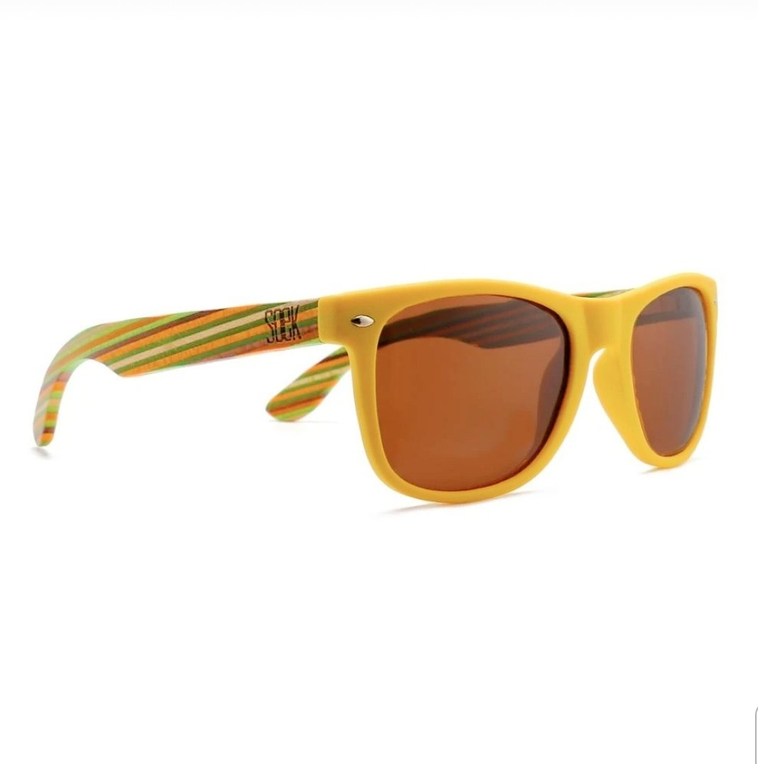 AUSTRALIAN SOEK - Yellow Sustainable Wooden Polarized Sunglasses - Adult